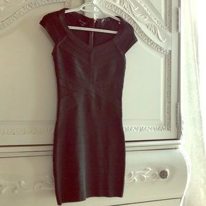 XS lightly used Bebe bandage Dark Green Dress